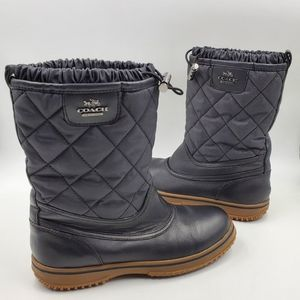 Coach SAMARA Black Quilted LEATHER sz 6.5